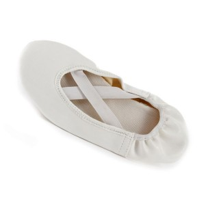 Balerinky koženka detské biele