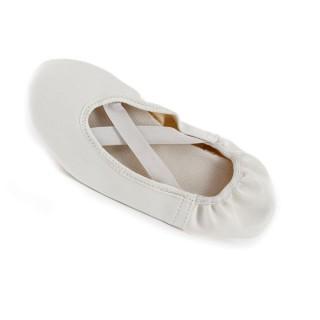 Balerínky koženka dámske biele