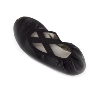 Balerinky koženka detské čierne