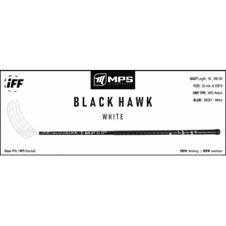 Hokejka florbal MPS Black Hawk 100cm white L