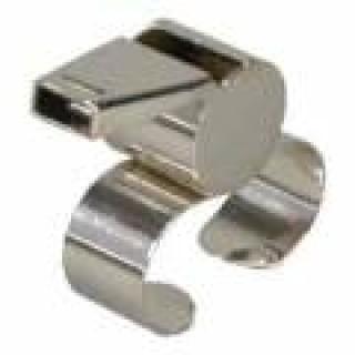 Píšťalka kovová s držiakom na prst