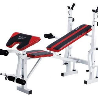 Polohovacia lavička SPARTAN + bicepsový pult